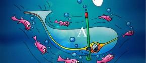Skøre Fisk - bogstavleg