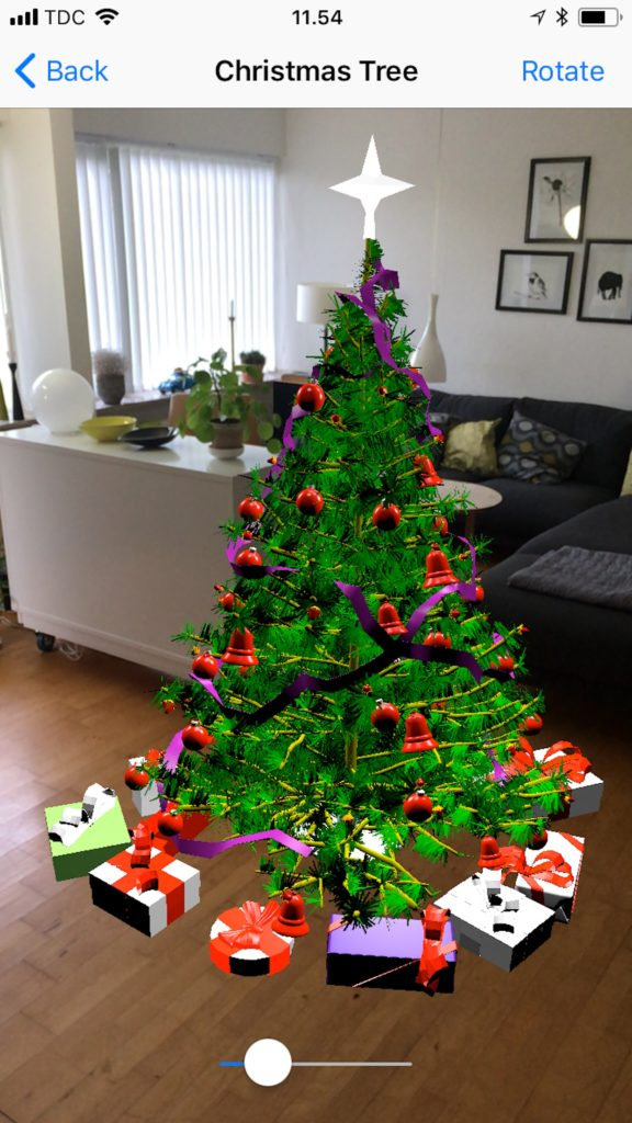 Augmented Reality juletræ