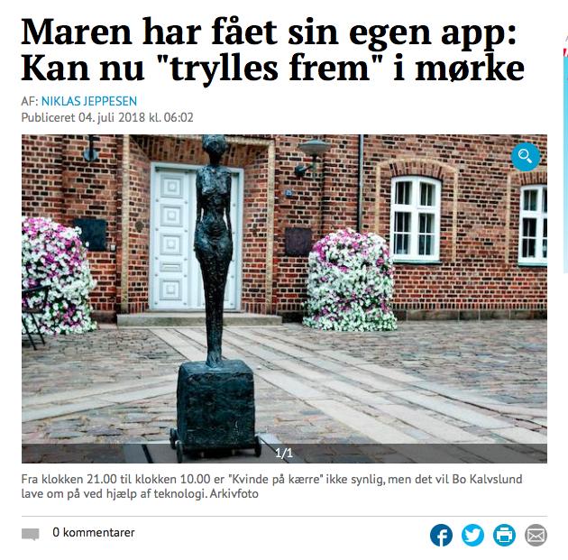 Kvinde på Kærre app omtalt i Holstebro Dagblad