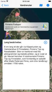 Vandreruter i Danmark - App til iOS